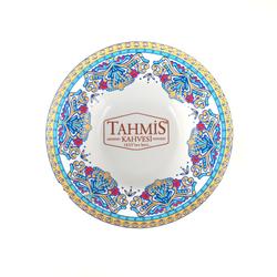 6'lı Porselen Osmanlı Motifli Çay Bardak Tabağı Altı Seti MS002 - Thumbnail